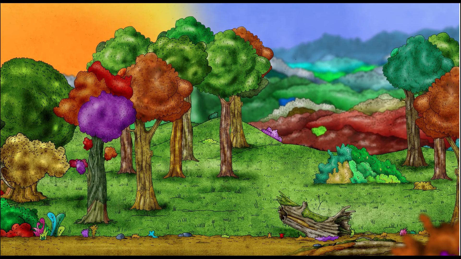 erdei élőhelyek az erdő találkozásánál